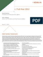 2013.3.1 -- Exelis Q4 2012 Presentation