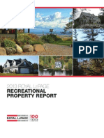 Royal LePage recreational property report 2013