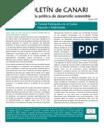 Boletin de CANARI No. 1 La gestion forestal participativa en el Caribe