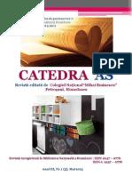 Coperta Mai 2013. CATEDRA AS