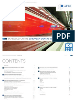 Schedule for the European Dental Market