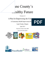 Lane County Health Future -- 2013 Community Health Improvement Plan (CHIP)