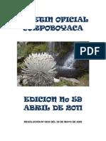 Boletin Oficial Edicion No 59 Abril de 2011