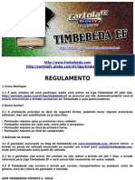 Regulamento Cartola Timbebeda EF 2013