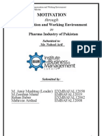Research Paper on Motivation in Pharma Industry of Pakistan