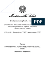 TABACCO - Nota Informativa Dell'OMS