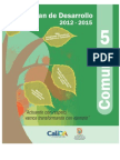 Plan de Desarrollo 2012-2015 Comuna 5