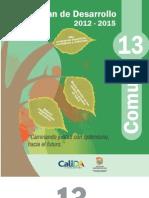 Plan de Desarrollo 2012 -2015 Comuna 13