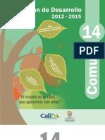 Plan de Desarrollo 2012 -2015 Comuna 14