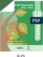 Plan de Desarrollo Comuna 18 2012-2015