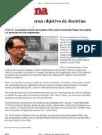 """""""Magistrados eran objetivo de doctrina militar"""""""