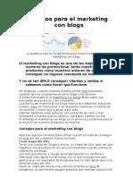 Consejos Para El Marketing Con Blogs