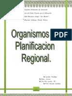 ORGANISMOS DE PLANIFICACIÓN REGIONAL