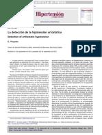Deteccion de Hipotencion Ortostatica