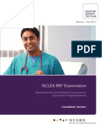 2013 NCLEX RN Detailed Test Plan Candidate