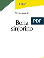 Orzeszko, Eliza - Bona Sinjorino