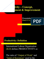 1-Productivity – Concept, Measurement & Improvement