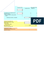 Process Costing Template