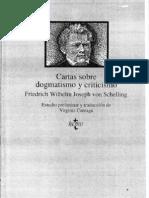Schelling Cartas Sobre El Dogmatismo Selecc