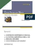 5 CINCO HORAS CON MARIO-Delibes-La novela española después del 36