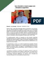 Testimonios Vinculan a Nuevo Papa Con Dictadura Argentina