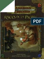 D&D 3.5 - Races de La Pierre