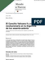 El Concilio Vaticano II y El Ethos Revolucionario en La Argentina de Los Sesenta-setenta