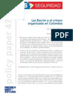 Las Bandas Criminales y el Crimen Organizado en Colombia
