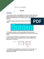 Elaboração matrizes