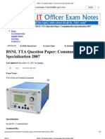 BSNL TTA Question Paper