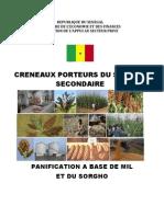 Production de farine à base de mil et de sorgho