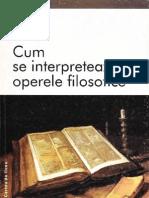 Ilie Parvu-Cum Se Interpreteaza Operele Filosofice-Punct (2001)