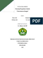 cover n daftar pustaka.docxpencemaran sungai, teknologi pengolahan limbah, tugas kelompok dan persentasi teknologi pengolahan limbah teknologi hasil pertanian universitas riau