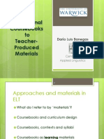 From International Coursebooks to Teacher-Produced Materials