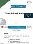 Modulo I - Tema 7 - Operatividad Aduanera
