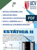 ESTATICA II  SEGUNDA CONDICIÓN DE EQULIBRIO