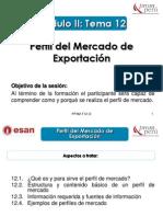 Modulo II - Tema 12 - Perfil de mercado de exportación