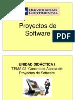 Tema 02 - Conceptos Acerca de Proyectos