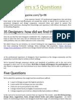 35 Designers x 5 Questions