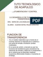3.2 Desarrollo de Funciones de Transferencia