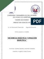CUADRO COMPARATIVO DE LA SECUENCIA DIDÁCTICA Y LA SITUACIÓN DIDÁCTICA.
