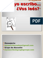 Presentacion del proyecto 2009