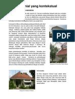 Adaptasi Bangunan Kolonial Thd Arsitektur Lokal