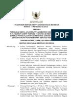 P.45 Tahun 2012 Tentang Perubahan P .38 SVLK
