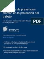 el sistema de prevención alemán en la protección del trabajo