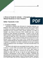 AVELAR Idelber - A Morta de Oswald de Andrade