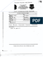 T8 B15 Hijacked Airplaner 2 of 3 Fdr- AA 77- USAF Incident Log