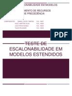Teste de Escalonabilidade Em Modelos Estendidos (FINAL)