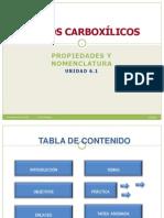 Unidad 6.1 ÁCIDOS CARBOXÍLICOS Prop