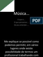 Música desabafo